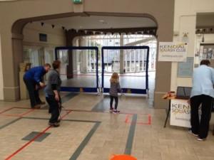 Mini-squash in the shoppping centre