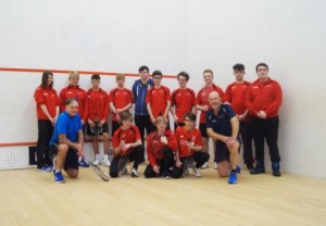 Kendal College students at Kendal Squash Club